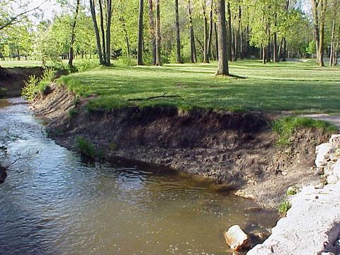 Troy, Michigan - Streambank Stabilization: BEFORE