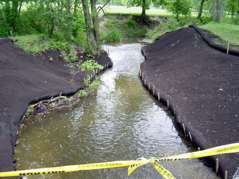 Troy, Michigan - Streambank Stabilization - June 6, 2003