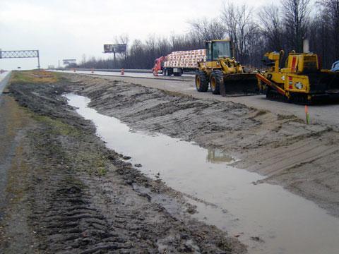 Port Huron, Michigan - Compost Blanket Application - BEFORE
